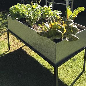 Cama de cultivo elevada tetrapack